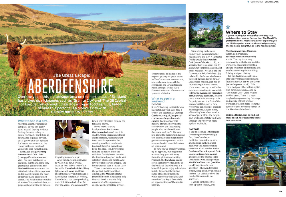 Aberdeen travel feature in Great British Food