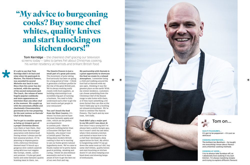 Interview with Tom Kerridge in Great British Food