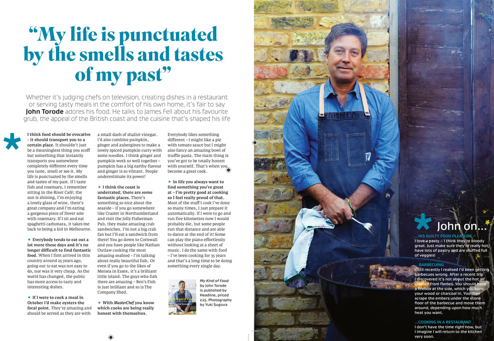 Interview with John Torode in Great British Food