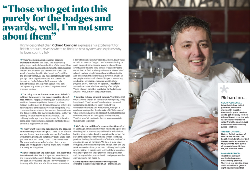 Interview with Richard Corrigan in Great British Food