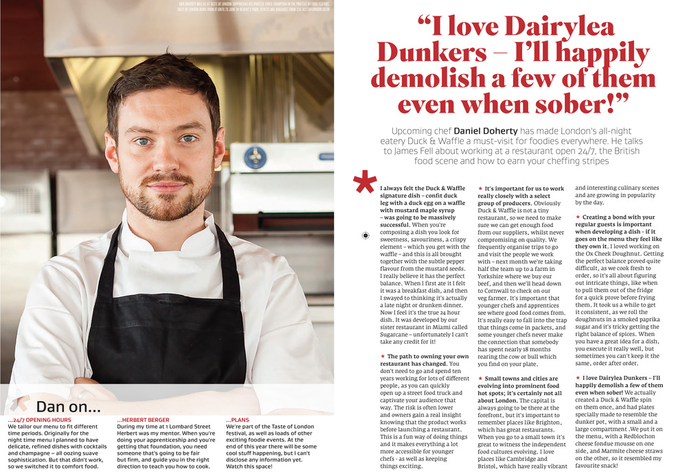 Interview with Dan Doherty in Great British Food