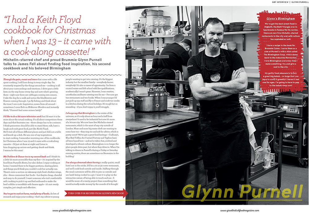Interview with Glynn Purnell in Great British Food | December 2016