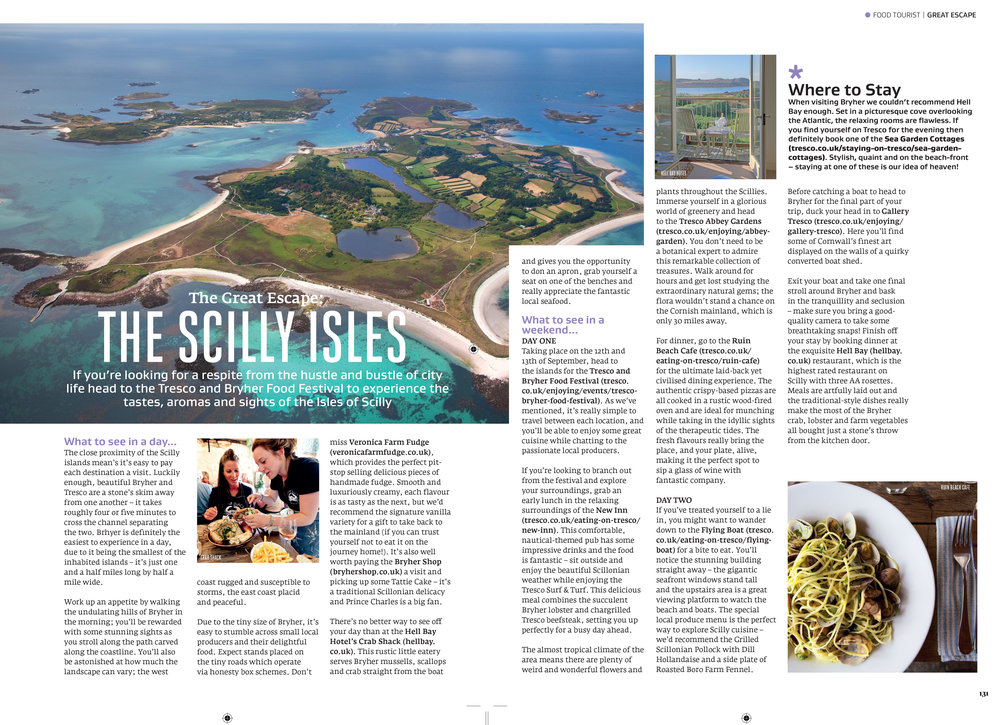 The Isles of Scilly | Travel feature in Great British Food magazine