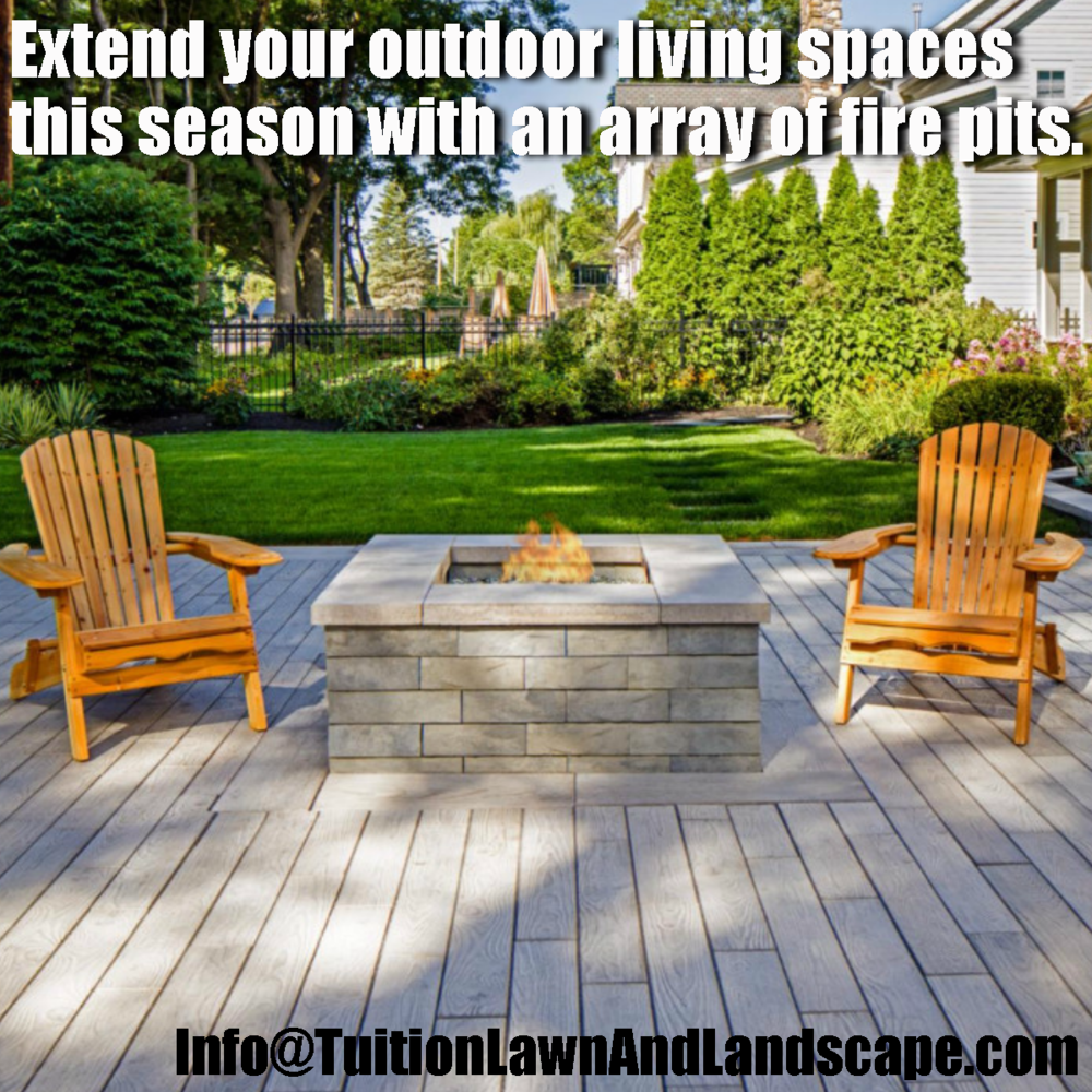 outdoor living spaces fire pits u2014 tuition lawn u0026 landscape