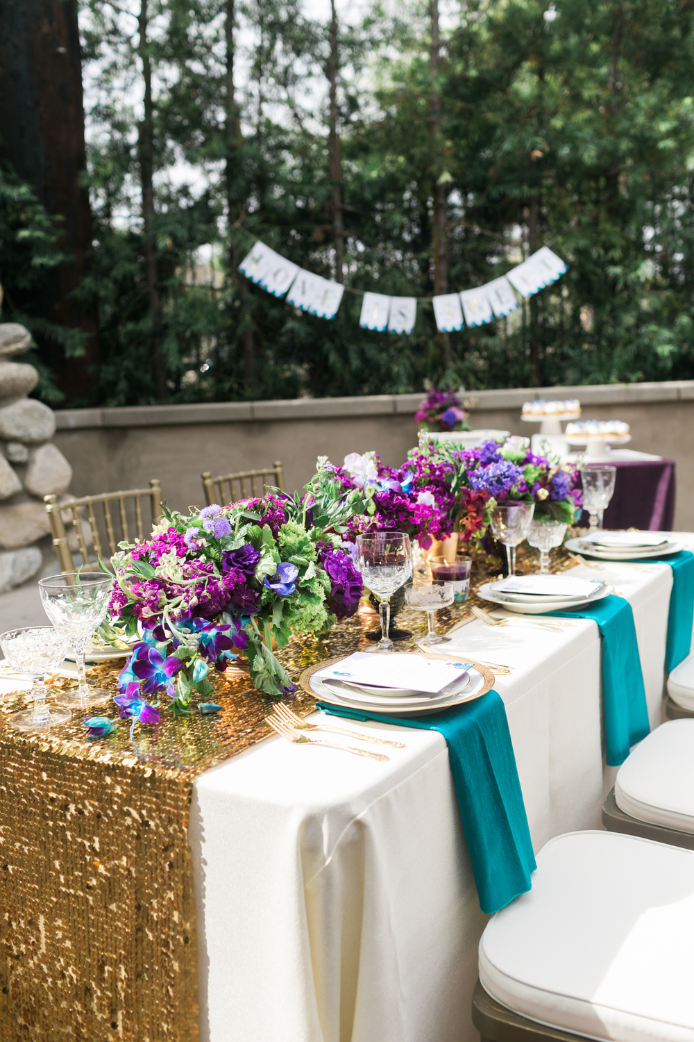 skyboxeventproductions.com | Peacock Inspired Engagement Party Ideas | Skybox Event Productions Wedding and Event Planning | Sarina Love Photography | Los Angeles and Southern California Party Design