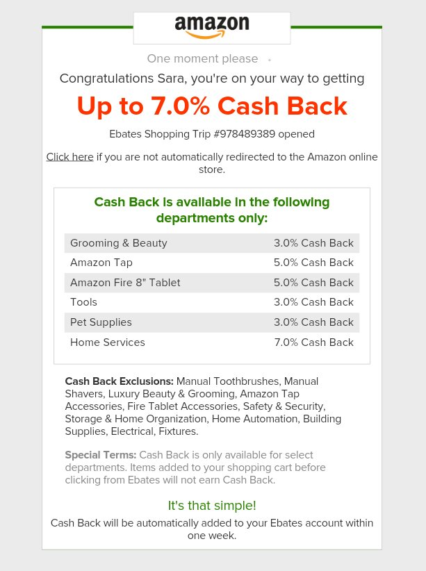 Amazon-Ebates-How to Make Money Shopping Online- whatthegirlssay.com