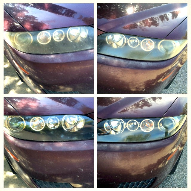 How to - Headlight Restore -DIY - whatthegirlssay.com