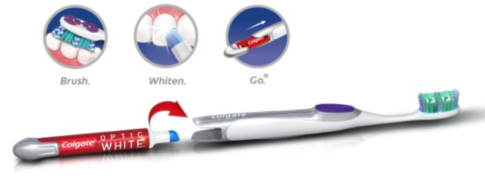 Colgate Optic White Toothbrush and Whitening Pen Review - whatthegirlssay.com