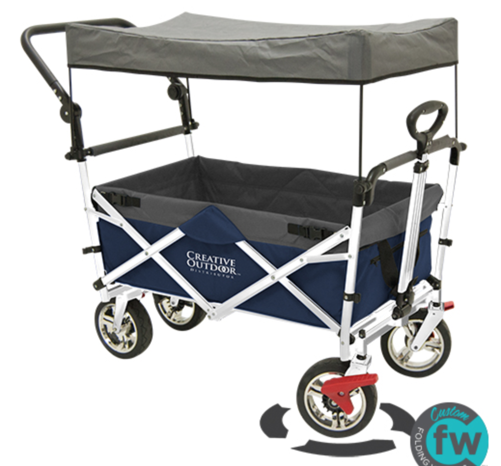 Custom Folding Wagons - Creative Outdoor - Push Pull Folding Wagon Review - whatthegirlssay.com