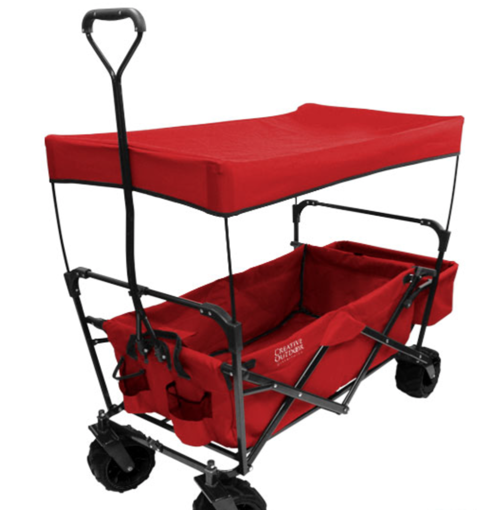Creative Outdoor All Terrain Folding Wagon with Canopy Review - whatthegirlssay.com