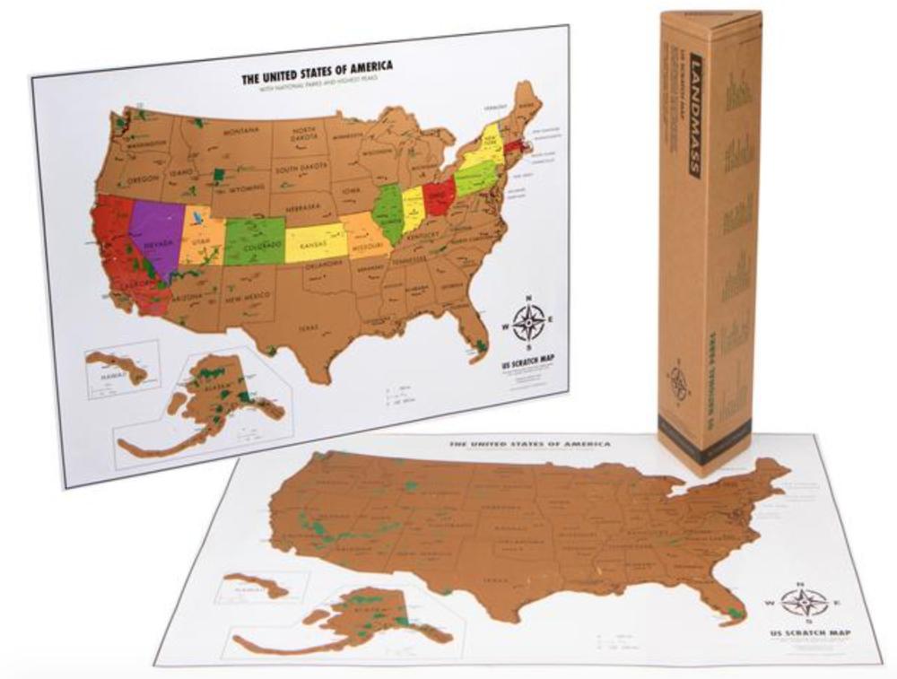Landmass Scratch Off Maps - World Map - US Scratch off Map - whatthegirlssay.com
