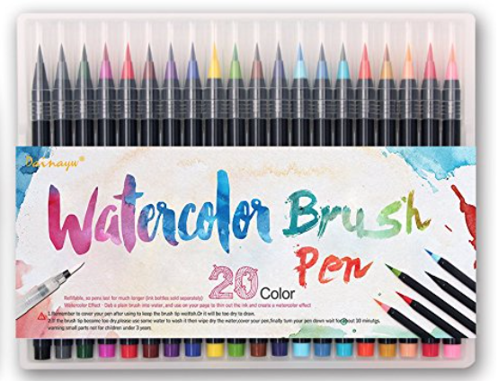 dainayw watercolor brush set - whatthegirlssay.com