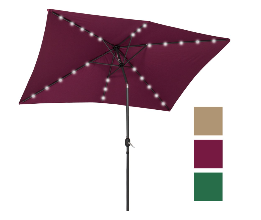Best Choice Products Solar Powered Lighted Patio Umbrella - whatthegirlssay.com