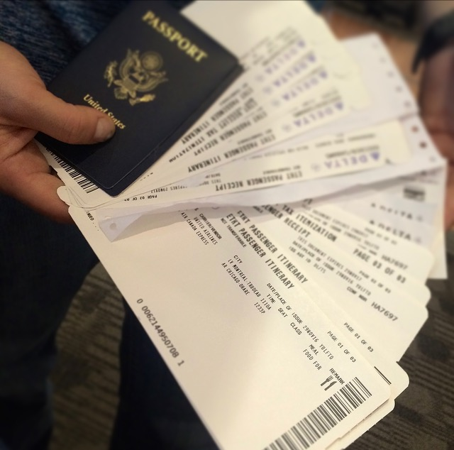 Look how many tickets we had for just ONE flight!
