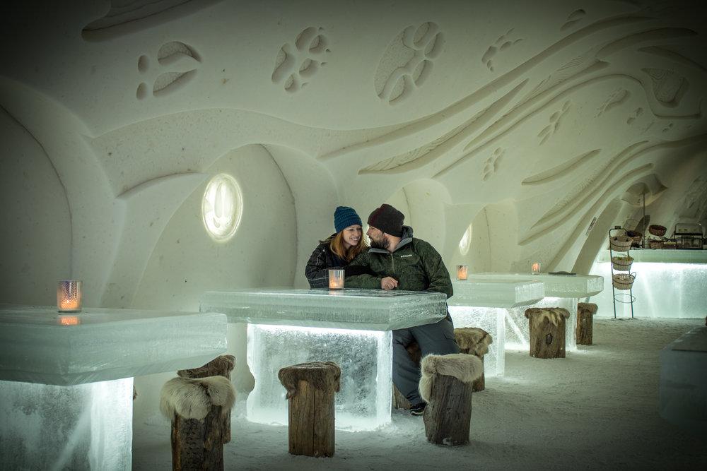Snow Restaurant - Eat in an ice restaurant in Kemi Finland, Lapland