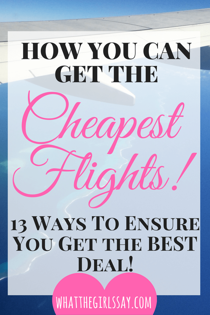 How to find the Cheapest Flights - Cheap Flights, How to get the best deal on flights.  Domestic flights can get pricey, here are 13 awesome ways to save money on flights and airline tickets.