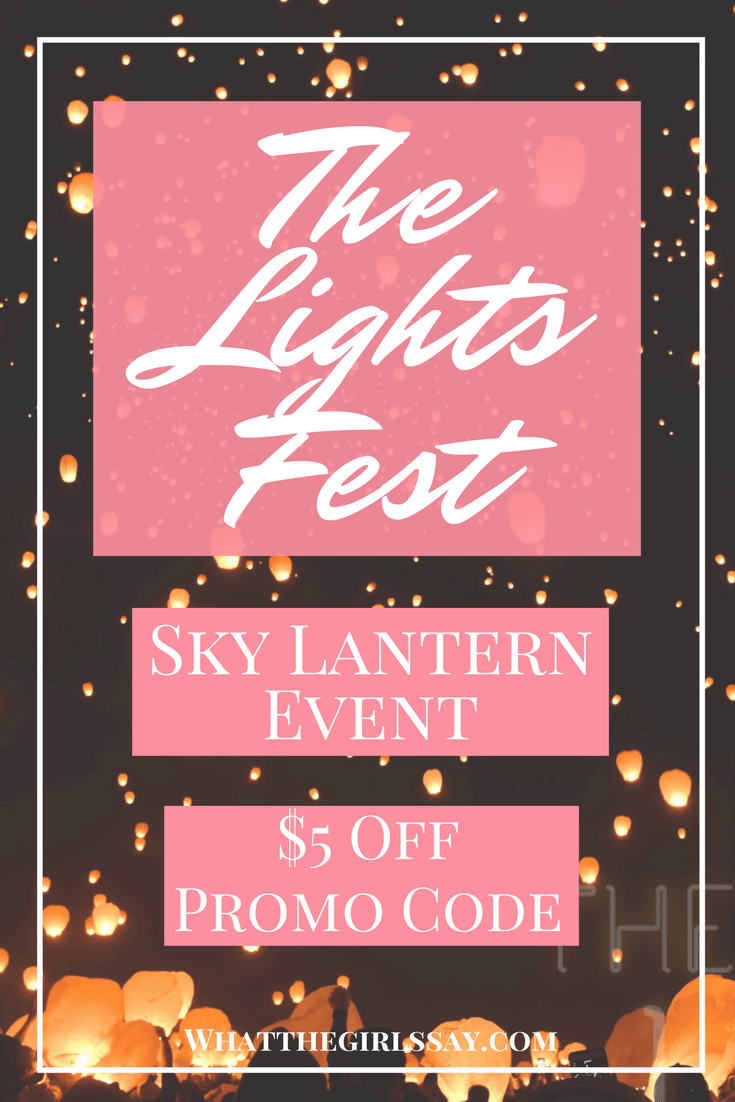 The Lights Fest Promo Code - sky Lantern event - Looking for where you can send off a sky lantern in your area?  Look no further than The Lights Fest!  You can send up your wish, in a lighted lantern near you!