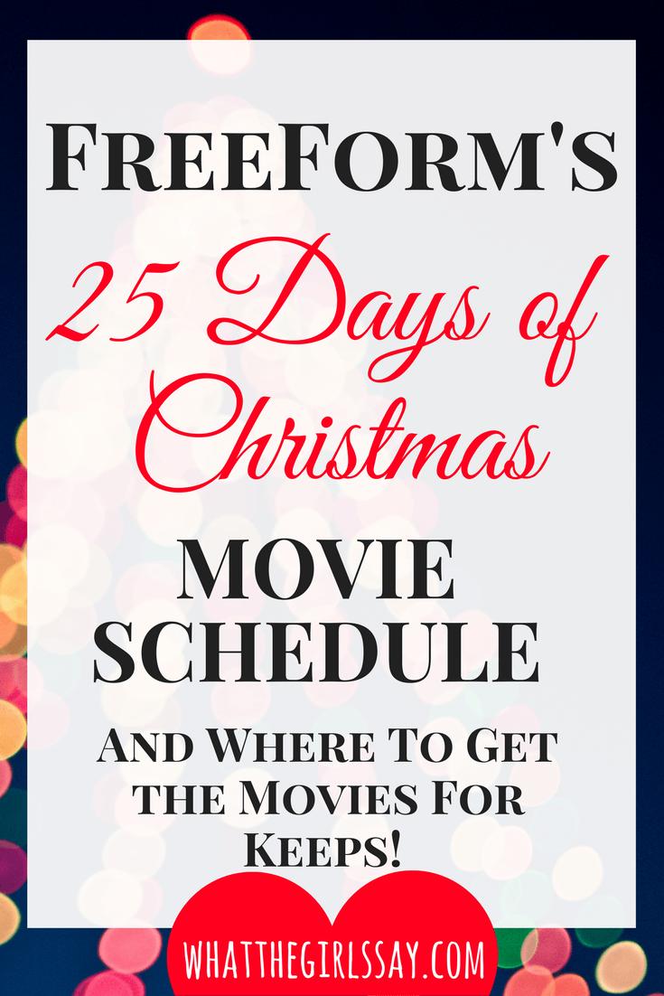 Hallmark's Countdown to Christmas Movie Schedule - Best Christmas Movies to Watch this season - Top Holiday movies - Christmas movie list - christmas movie night