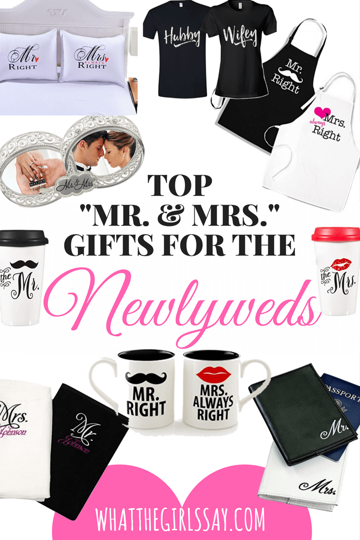 Gift ideas for the Newlyweds - Mr & Mrs gifts - engagement gift ideas - wedding gift ideas