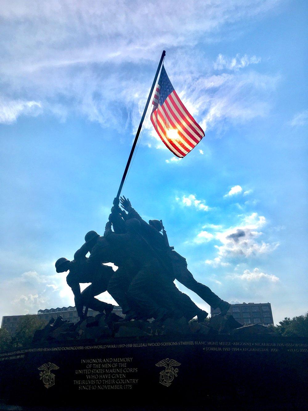 Iwo Jima Memorial at Arlington National Cemetery