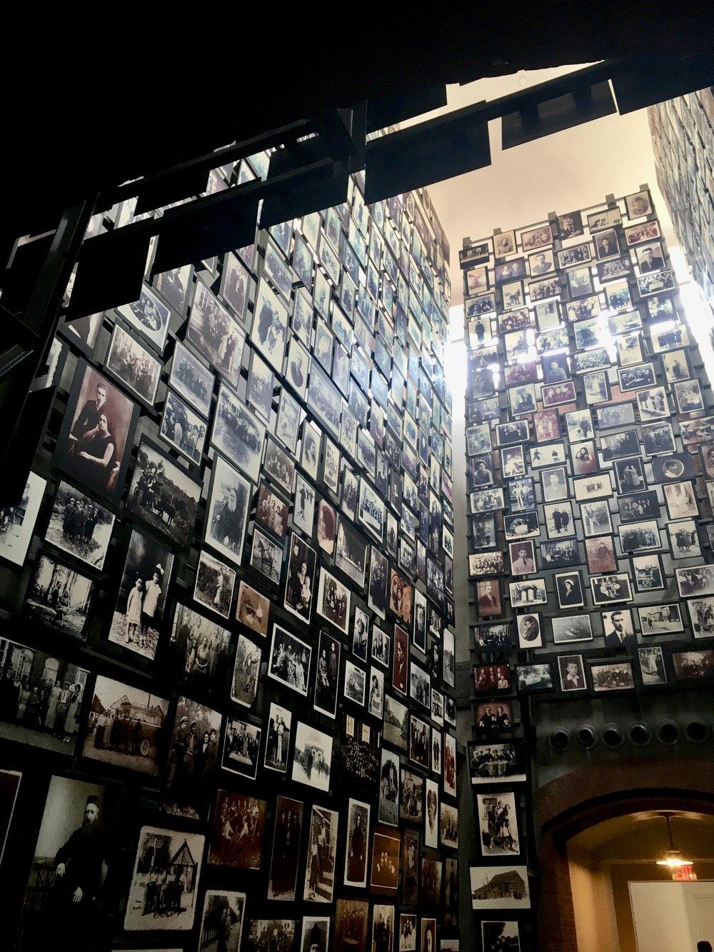 Holocaust Museum Washington DC. Holocaust wall. Free things to do in Washington DC