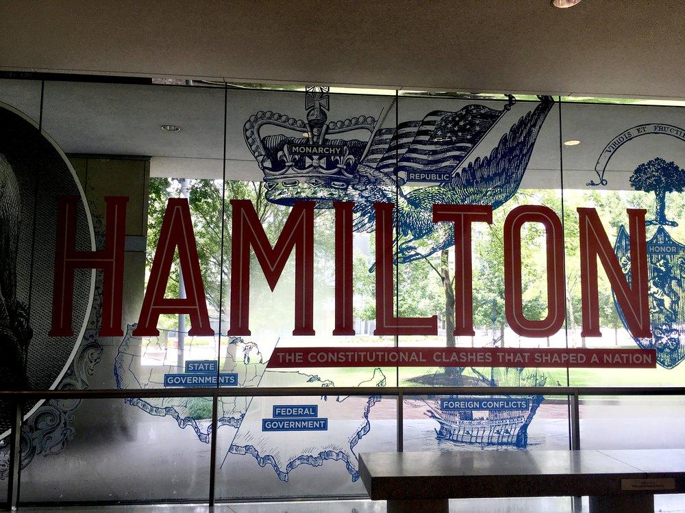 Hamilton Exhibit in the National Constitution Center