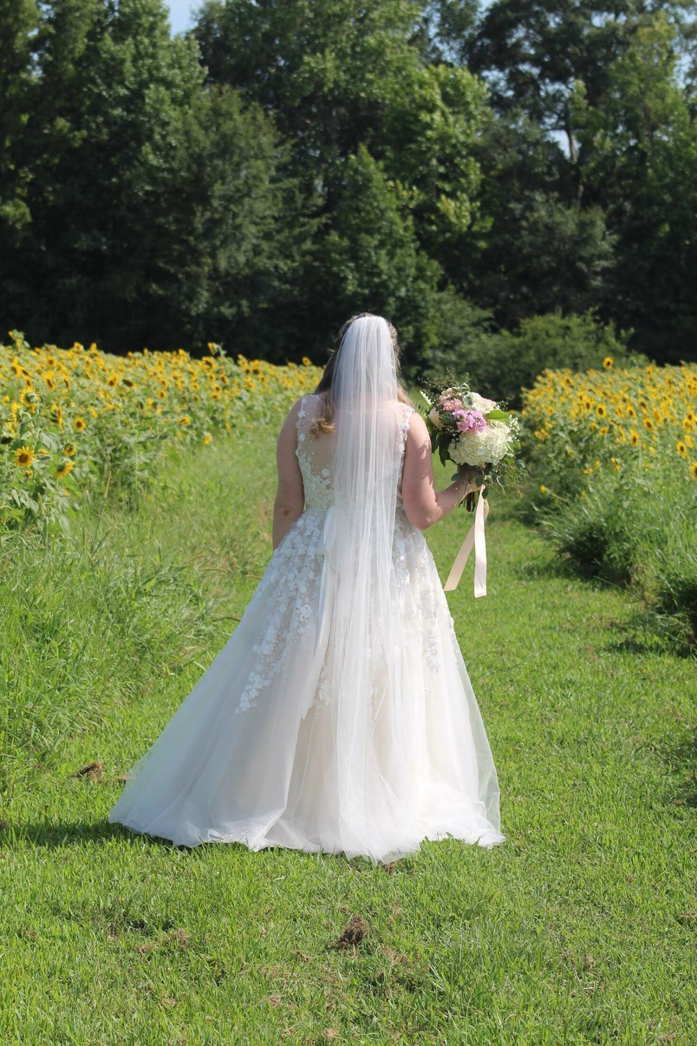 Tulle Sheer Cathedral Wedding Veil