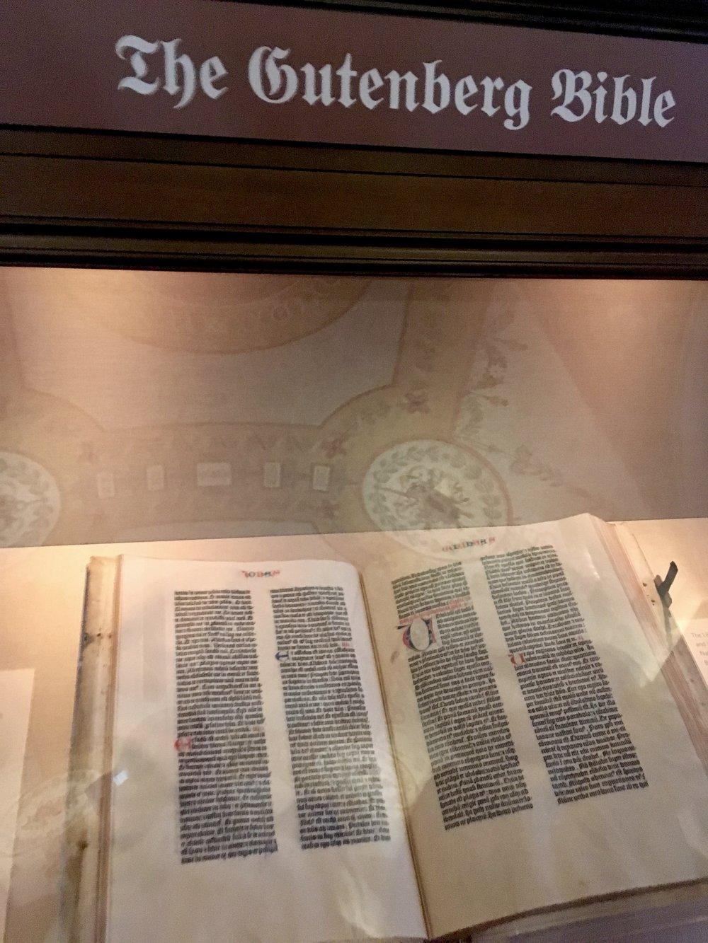 Library of Congress - Washington DC Gutenburg Bible
