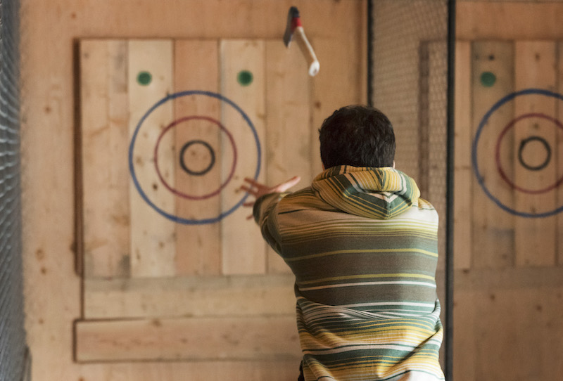 Things to do in Whistler Canada forged axe throwing