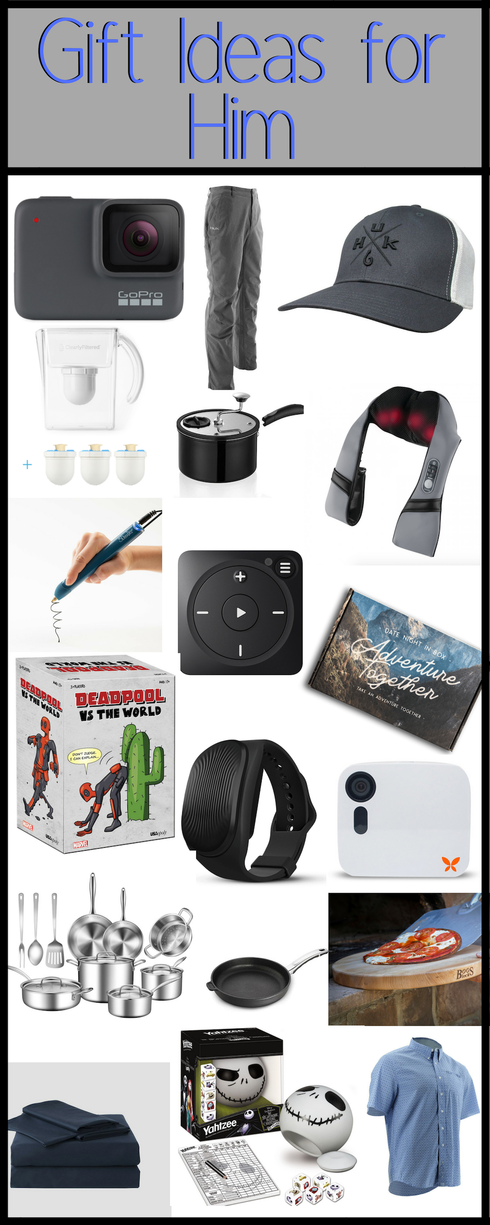 Gift Ideas for Him. Mens Holiday Gift Guide. Here are some great gift ideas for husband, boyfriend, son, uncle, grandpa, etc.  All the best Ideas for Gifts for men.
