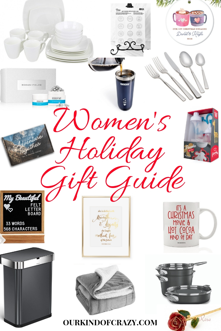 Women's Holiday Gift Guide. Gift Ideas for her. Great gifts for mom, daughter, aunt, grandma, sister, best friend.