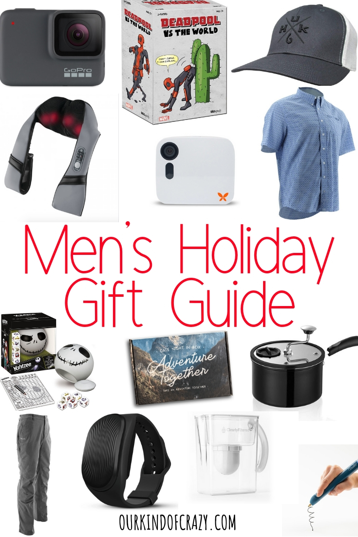 Holiday Gift Guide for Him- great gift ideas for him. Gifts for Boyfriend, husband, brother, uncle, grandpa, best friend.