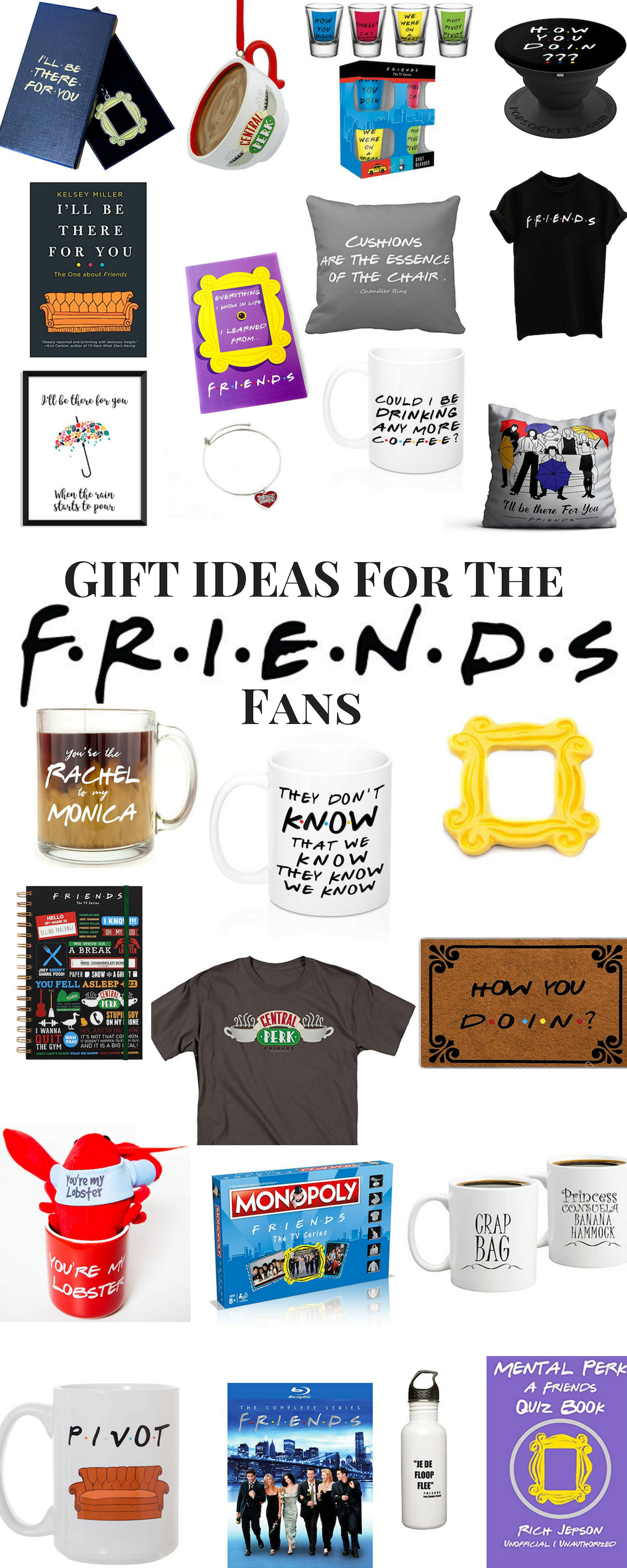 Friends TV show Gift Ideas. Friends Gift Guide. Best gifts for the Friends fan.