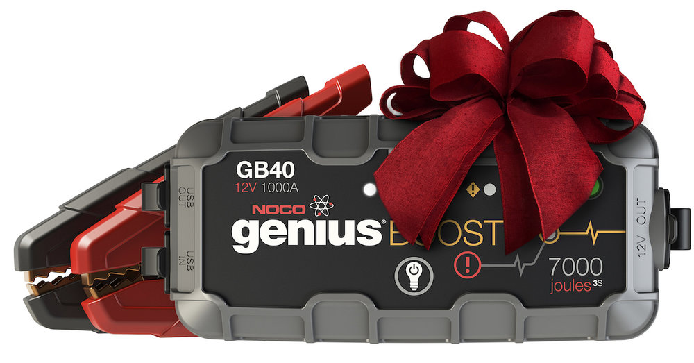 NOCO GB40 Genius Boost 1000A - This 12V Lithium Jump Starter from NOCO is the only jump starter you'll need for your vehicle. No more worrying about needing another car to help jump you when your battery runs out. This GB40 Genius Boost has 1000 Amps, and can power or jump start your vehicle up to 20 times with just a single charge! Jumping a car was always a nerve wracking thing for me, because I knew what could happen if you did it wrong. This NOCO Genius Boost has all the safety features you would want. Nothing will happen if you touch the clamps together, or accidentally add the wrong clamps on each side. So you'll be safe even if you are a bit nervous to jump start your car. The GB40 is great for all your cars, trucks, boats, motorcycles, etc. and it works with both gas and diesel cars. Its also very compact, so it can fit right in your glove compartment with no problem. You'll never have a worry again when you have the NOCO GB40 Genius Boost in your car.