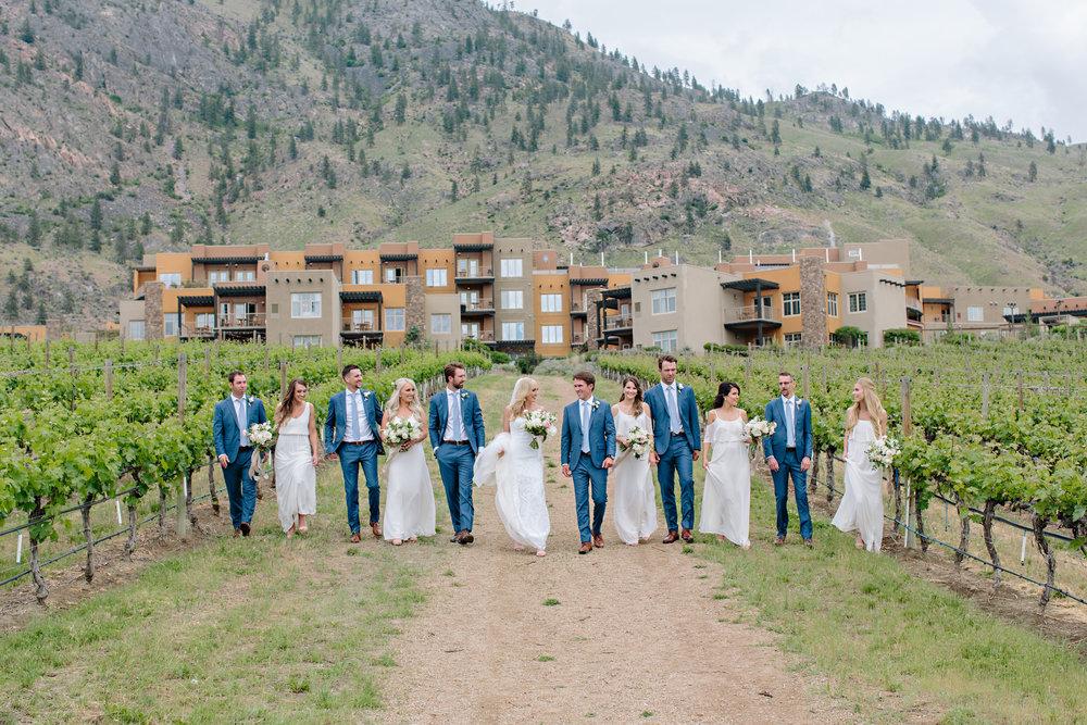 Okanagan Summer Winery Wedding Party Bride Groom Osoyoos.jpg