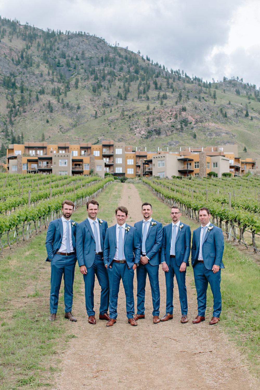 Blue Groom Groomsmen Suit Attire Summer Wedding Winery Vineyard Spirit Ridge.jpg