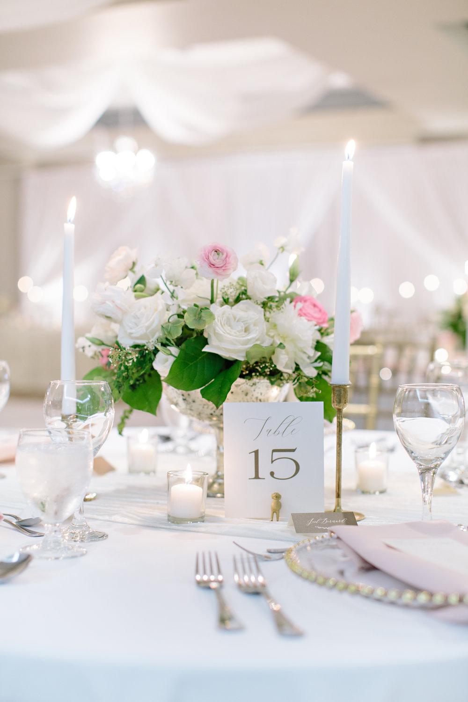 Okanagan Wedding Reception Tablescape Charger Candles Calligraphy Blush White Centerpiece Floral Love.jpg