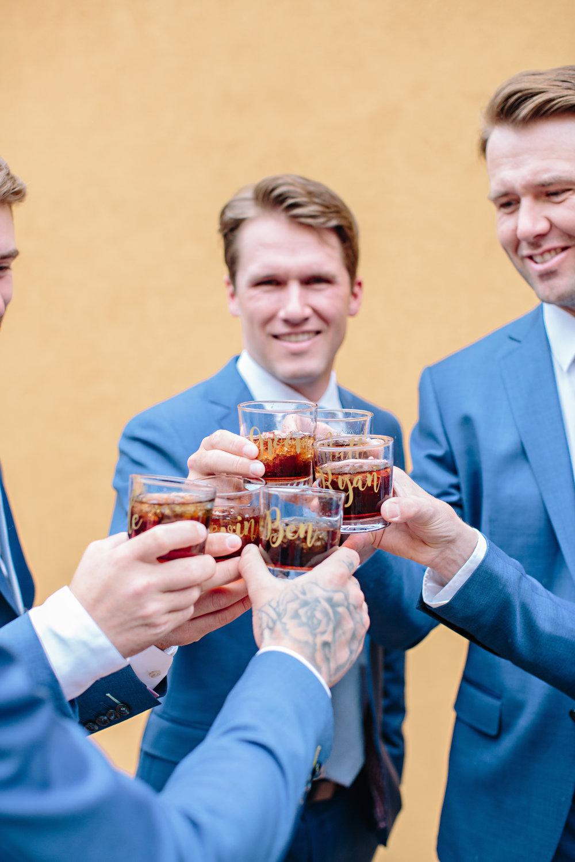Spirit Ridge Osoyoos Wedding Okanagan Groom Groomsmen Suit Blue Cheers Getting Ready Inspiration.jpg