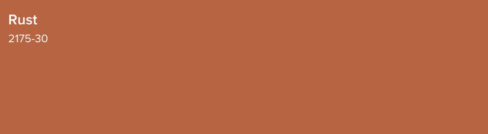 Benjamin Moore: Rust 2175-30