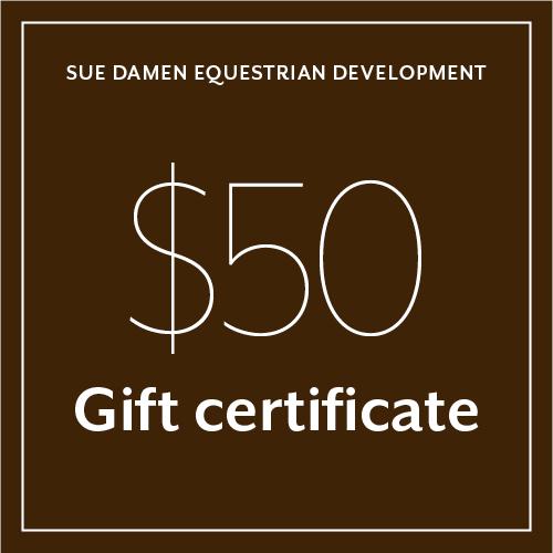gift certificate sue damen equestrian development riding lessons hamilton cambridge brantford - Horseback Riding Lesson Gift Certificate Template