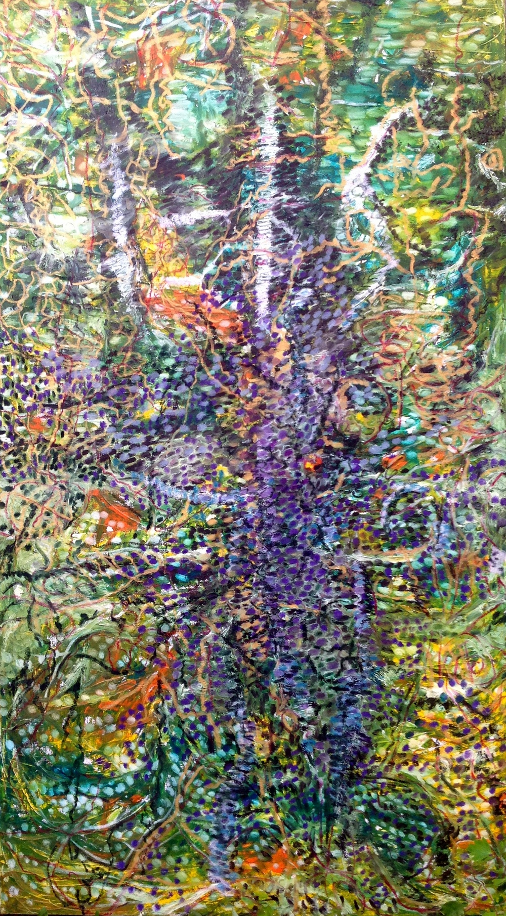 Jungle, oil and oil pastel, 2016