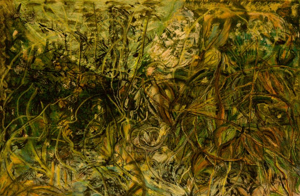 Brambles, monoprint, 2002