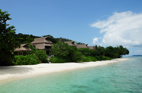 Nikoi Island was developed with vernacular building