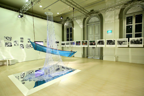 the Orang Laut Swarovski Crystal Fishing Net exhibition in singapore