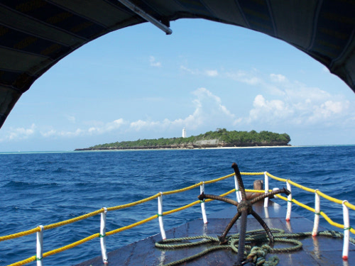 After 2 months travelling round zanzibar, sibylle found chumbe island