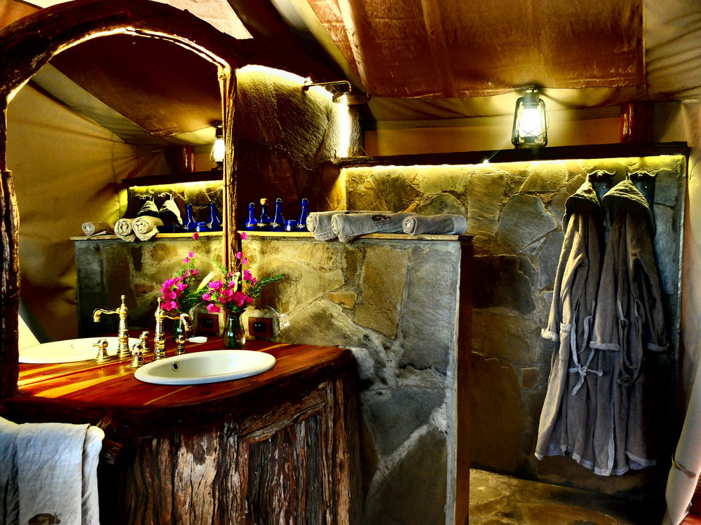 Kilimanjaro tented cottage bathroom