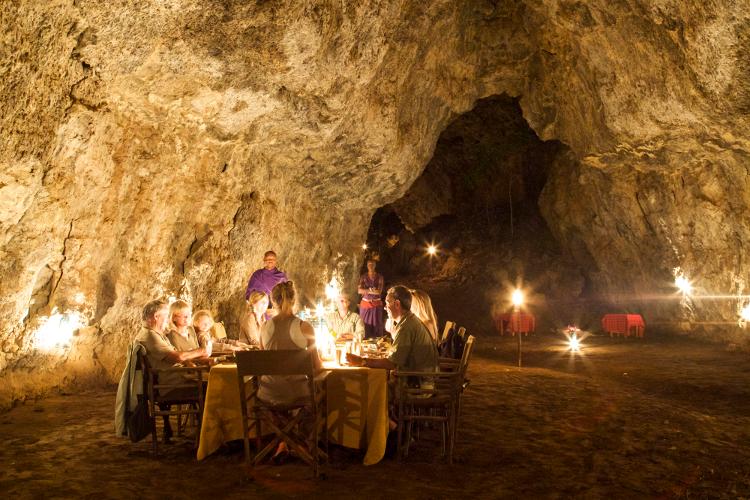 Maasai cave dinner