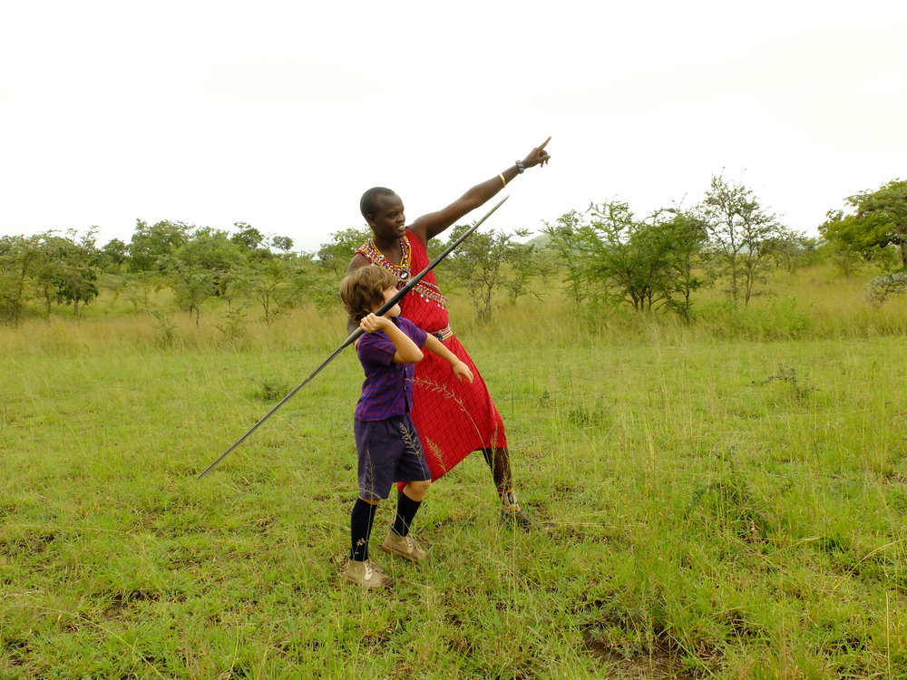 Learning to javellin spear with Maasai