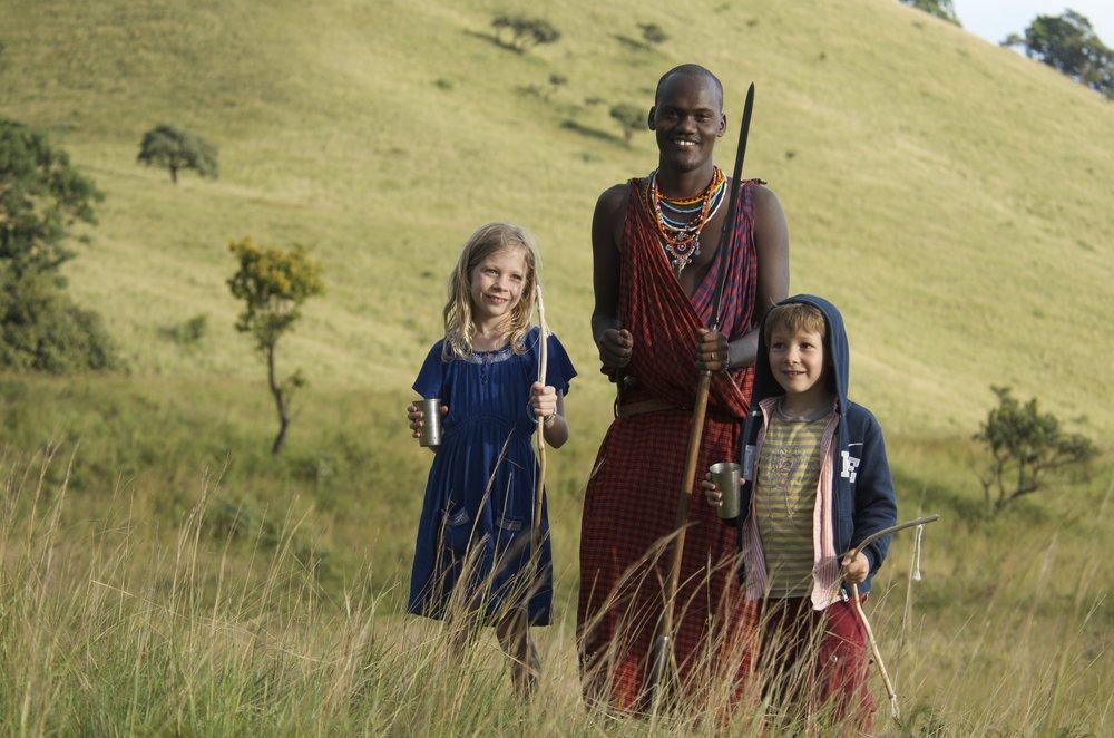 Maasai & kids