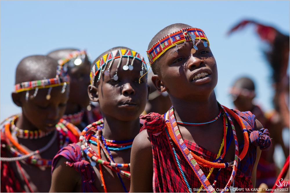 Maasai ceremony boys